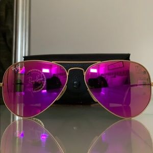 RAY-BAN Aviator Flash Lens in PINK